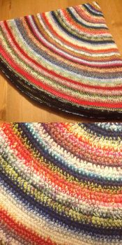 Crocheted Rag-Rug by Enira