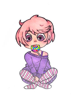 30 characters challenge : #3. Candy. by Kitten-Draws