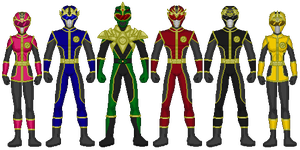 Dark Thunder Rangers 2.0 by heavenlymythicranger
