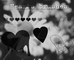 + Hearts Brushes Pack. by ShesBrokenInside