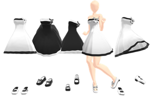 Simple dress+ Shoes .:Download:. by Palcario