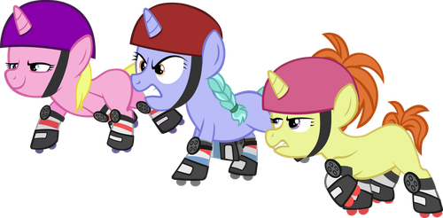 Canterlot Roller Derby Fillies by IronM17