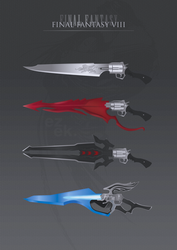 Final Fantasy VIII Gunblades by ezekdesigns