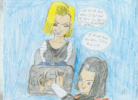 Android 18 Tickled by FF23