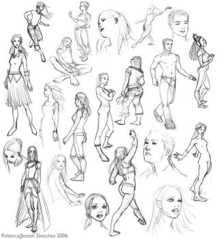 2006 Sketch Compilation 1 by purplerebecca