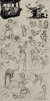 sketchbook scribbles by CosmicUnicorn