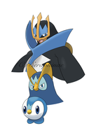 Gen 4 - Piplup Evo Poster by Seraphinae