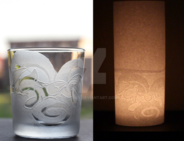 Rainbow Dash Whisky glass / candle light by rtry