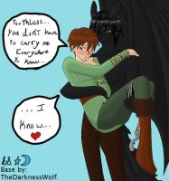 Hiccup's Embarassed by Midnight7716