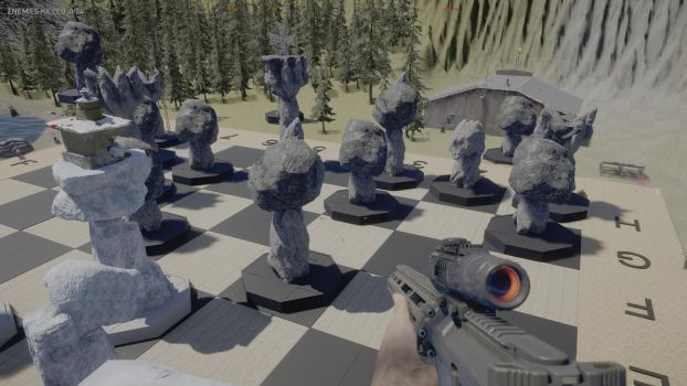 Far Cry 5 Giant Chess Board Under Construction by Usmovers02