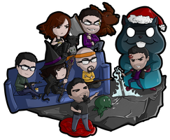 Xmas Gift- Duke 46 Chibis by Lilith-the-5th