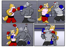 Commission wave 3: Fox and wolf rematch by GenshiTatsunora