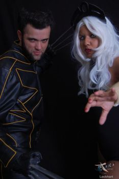 Storm and Wolverine by Dame-of-Storm