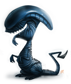 Day 540. Sketch Dailies Challenge - Xenomorph by Cryptid-Creations