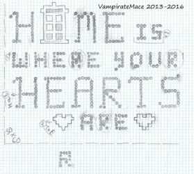 Doctor Who, Home and Hearts - Cross Stitch Pattern by VampirateMace