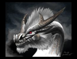 White Fatalis Speedpaint by Araless