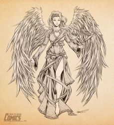 Sketchbook Session | Angels Part 1 by ClaytonBarton
