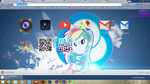 rainbow and rooted chrome theme by illumnious