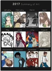 Animemyster's 2017 Summary of Art by animemyster