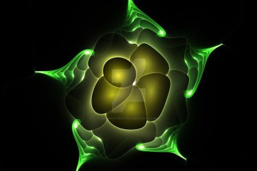 Glowing Flower by shineout-fractals