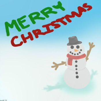 Merry Christmas Greeting Card by ScarletCB1999
