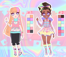 Adoptable SET PRICE - Holographic #1 - OPEN by Flasho-D