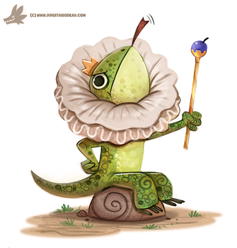 Daily Paint #1177. Frilled Lizard by Cryptid-Creations
