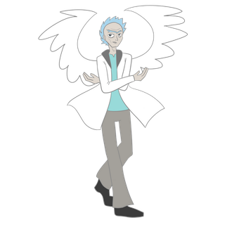 Rick and Morty - Angel Rick by StarriiChan