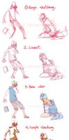 simple colouring step by step by makiyan
