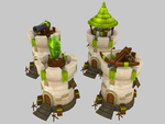 Stylized Defence Towers by DenisDrakulla