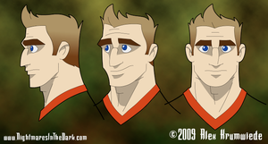 Mike Headshot Turnaround by RedBladeStudios