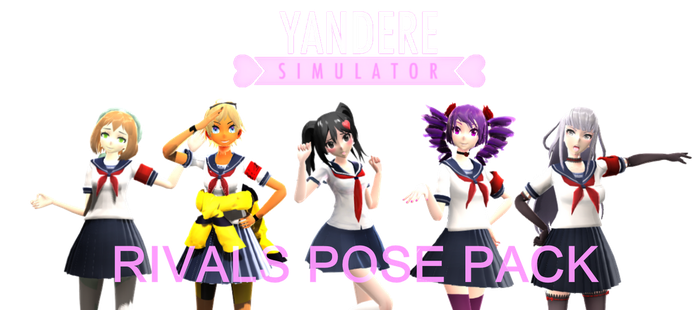 [MMD - Yandere Simulator] Rivals Pose Pack (+DL) by 10JmixP