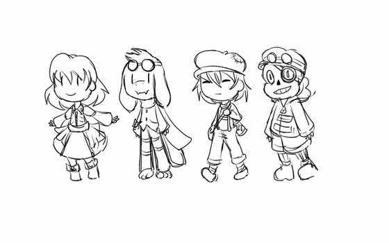 The tiny gang is here by beanbagbrianna