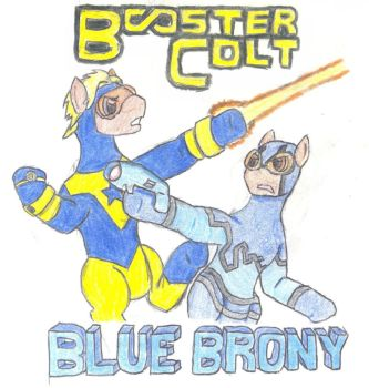 Booster Colt and Blue Brony by AndroidAR