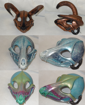 One of a kind skulls by DreamVisionCreations