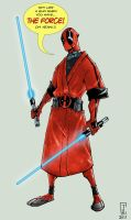 Deadpool Jedi by cjcenteno
