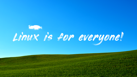 Linux is for everyone wallpaper by seanyg87