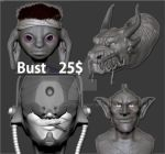 COMMISH 25$ FOR A 3D BUST WOOp by Red-Hots