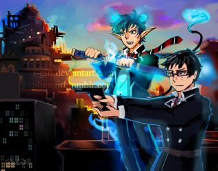 Brothers -Blue Exorcist by Fairytwister