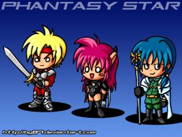 Phantasy Star 4 chibis by BG87