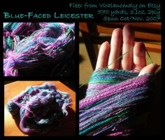 Blue-Faced Leicester Yarn by ChocoboGoddess