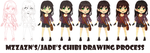 Steps for Chibi Adelaide by MzzAzn