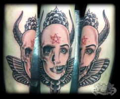 Skull face by state-of-art-tattoo