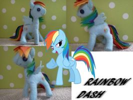 Rainbow dash plushie by thecayte