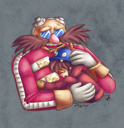 COMMISSION: Eggman and Ovi by Jammerlee