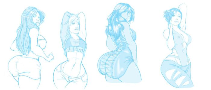 4 Night Clubbing Beauties by Shryland-VoreGalore