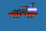 Coalition Shadow Tank. Voxel model (new model) by Red-Spore