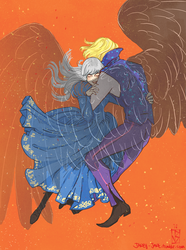 Howl + Sophie by janey-jane