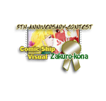 5th Anniversary Contest Stamp - Comic Ship Visual by girl-n-herhorse