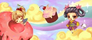 Cupcake Dreamland Cup by meitei-miu